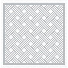 Plastična šablona - Basket Weave - My Favorite Things