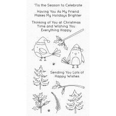 Set štampiljk - Christmas Cardinals - My Favorite Things