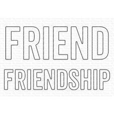 Kovinske šablone - Friend & Friendship Die-namics - My Favorite Things