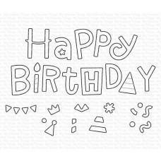 Kovinske šablone - Happy Birthday Party Die-namics - My Favorite Things