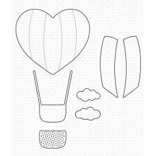 Kovinske šablone - Heart Air Balloon - My Favorite Things
