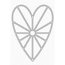 Kovinske šablone - Heart Burst Die-namics - My Favorite Things