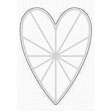 Kovinske šablone - Heart Burst Hellos Die-namics - My Favorite Things