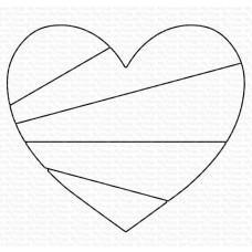 Kovinska šablona - Heart Rays - My Favorite Things