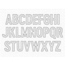 Kovinske šablone - In Stitches Alphabet Die-namics - My Favorite Things