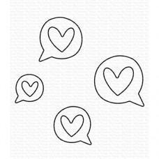 Kovinske šablone - Love Speech Bubbles Die-namics - My Favorite Things