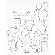 Kovinske šablone - BB Mice Day to Celebrate Die-namics - My Favorite Things