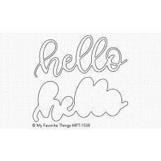 Kovinska šablona - Sweet Hello - My Favorite Things