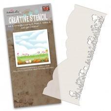 Plastična šablona - Flower Border Stencil - Polkadoodles