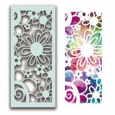 Plastična šablona - Flower Collage Stencil - Polkadoodles
