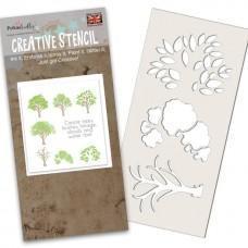 Plastična šablona - Tree-mendous Stencil - Polkadoodles
