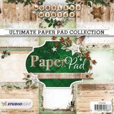 Blok Papirjev - Woodland Winter nr. 92 - 15x15cm - Studio Light
