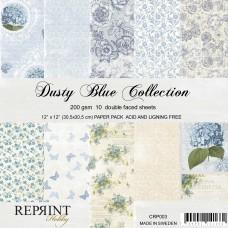 Blok Papirjev - Dusty Blue Collection - 12x12 - Reprint