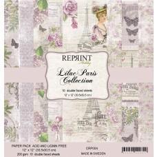 Blok Papirjev - Lilac Paris Collection - 12x12 - Reprint