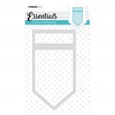 Kovinske šablone - Embossing Die Cut Stencil - Essentials Nr.117 - Studio Light