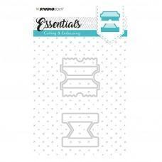 Kovinske šablone - Embossing Die Cut Stencil - Essentials Nr.123 - Studio Light