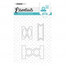 Kovinske šablone - Embossing Die Cut Stencil - Essentials Nr.124 - Studio Light