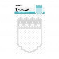 Kovinske šablone - Embossing Die Cut Stencil A6 - Essentials Nr.197 - Studio Light
