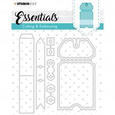 Kovinske šablone - Embossing Die Cut Essentials Nr.276 - Studio Light