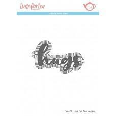 Kovinska šablona - Hugs Sentiment Dies - Time For Tea