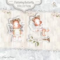 Fluttering Butterflies mini Stamps - Magnolia