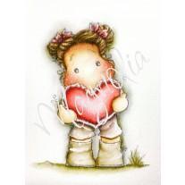 Lace Heart Tilda - Magnolia