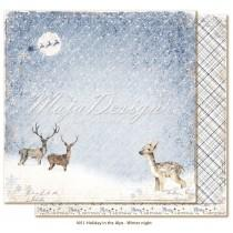 Paper - Winter night - Holiday in the Alps