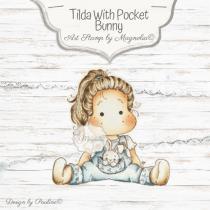 Hippity Hoppity Tilda with Pocket Bunny - Magnolia