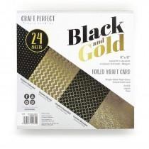 Craft Perfect - 6x6 Foiled Kraft - Black & Gold - Tonic Studios