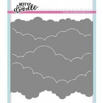 Cloudy Skies Stencil - Heffy Doodle