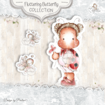LadyBug Tilda & Butterflies - Magnolia