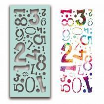 Number Collage Stencil - Polkadoodles