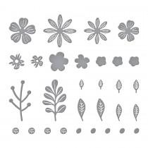 Mini Blooms and Sprigs Etched Dies - Spellbinders