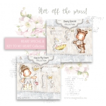 Beary Special & Key To My Heart Art Stamp Sheets - Magnolia