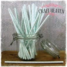 Damask Paper Straws - Baby Blue