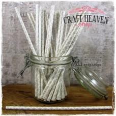 Damask Paper Straws - Silver