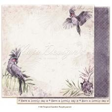 Paper - Purple parrot - Tropical Garden