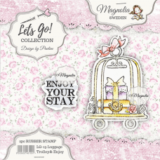 Luggage Trolley & Journey {text} - Magnolia