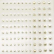 Self-Adhesive Half-Pearls - White & Ecru