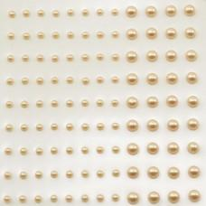 Self-Adhesive Half-Pearls - Cream