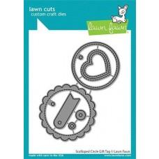 Lawn Cuts - Scalloped Circle Gift Tag - Lawn Fawn