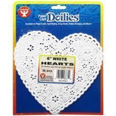 Paper doilies - Heart 6''