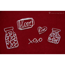 Brush Art Elements - Jar of Hearts - Scrapiniec