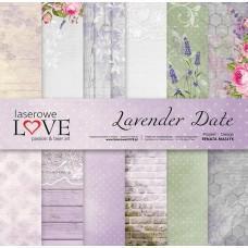 Set of papers - Lavender Date - 30,5 x 30,5 cm - Laserowe LOVE