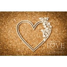 Heart with Lily of the Valley - El Santo Rosario - Laserowe LOVE