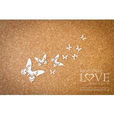 Butterflies - set - Soufre - Laserowe LOVE
