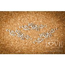 Mr and Mrs with ornaments - Simple Wedding - Laserowe LOVE