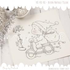 Buon Natale Tilda Rubber Stamp Sheet - Magnolia