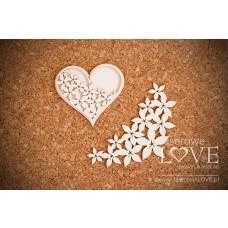 Heart - Flower - Laserowe LOVE