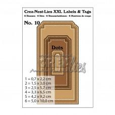 Crea-Nest-Lies XXL Labels & Tags Dies no.10 With Dots
